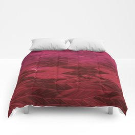 Red Faded Chevron Comforters
