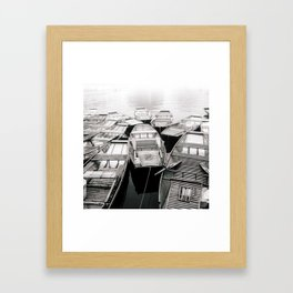 Boats in Vietnam Black and White Fine Art Print  • Travel Photography • Wall Art Framed Art Print