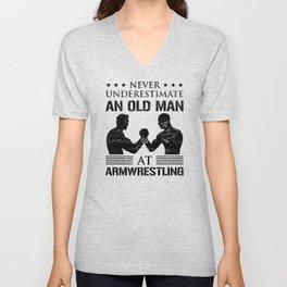 Armwrestling Arm Wrestling Dad Grandpa Saying Gift Unisex V-Neck