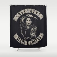 sons of anarchy Shower Curtains featuring Sons of Dark Art by pakowacz