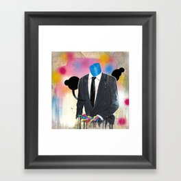 Plasticine man in a suit. Framed Art Print