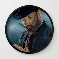 moriarty Wall Clocks featuring Professor Moriarty by San Fernandez
