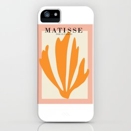 Henri matisse the cut outs contemporary, modern minimal art iPhone Case