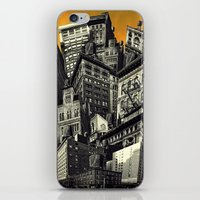 cityscape iPhone & iPod Skins featuring Cityscape by Chris Lord