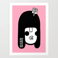 ramones Art Prints featuring Hey Ho Let's Go by Philip Morgan