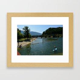 paddling in  Framed Art Print