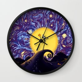 skellington king Wall Clock