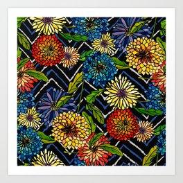 Chrissy Flowers Bohemian Art Print