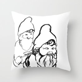 Gnomely playing  Throw Pillow