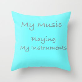Cover For My Music Throw Pillow