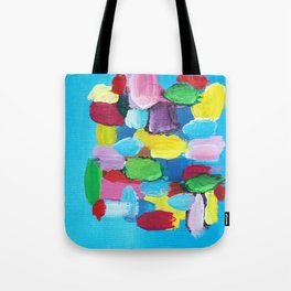 Colorful Day Abstract Tote Bag