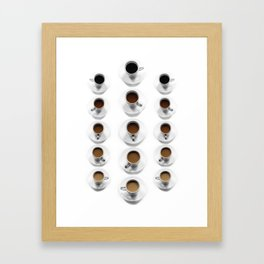 Shades of Coffee Framed Art Print