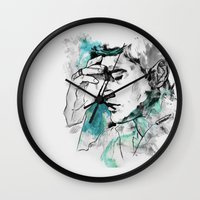 dean winchester Wall Clocks featuring Dean Winchester | Skin by lostinroadsuntravelled