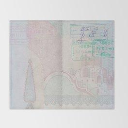 Passport Throw Blanket
