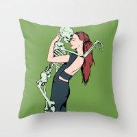 carpe diem Throw Pillows featuring Carpe Diem by Angelus