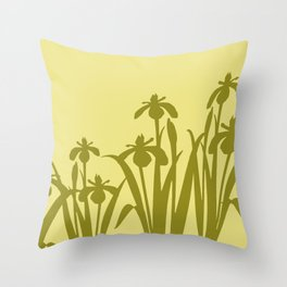 Daffodils yellow abstract Design Throw Pillow
