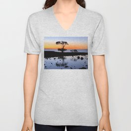 Cleveland Point Sunset Unisex V-Neck