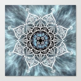 Heart Of The Moon Mandala Canvas Print