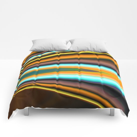 Abstract Fractal Colorways 01BR Comforters