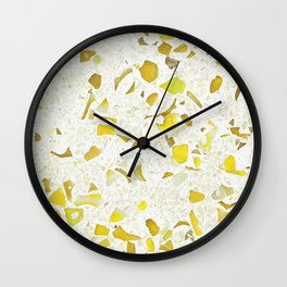 Terrazzo yellow Wall Clock