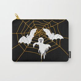 Bats and Ghost white - black color Carry-All Pouch