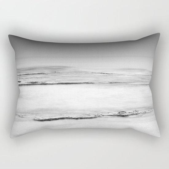 """Foggy beach"". Calm sea at sunset Rectangular Pillow"