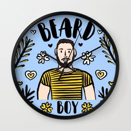 Beard Boy: Julia Wall Clock