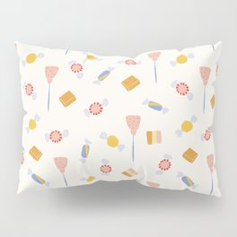 Whimsical Oil Vintage Candies Pattern Pillow Sham