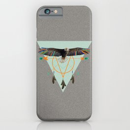 The indian eagle is watching over Po's dreamcatcher iPhone Case