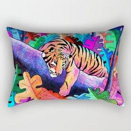 The lazy tiger Rectangular Pillow