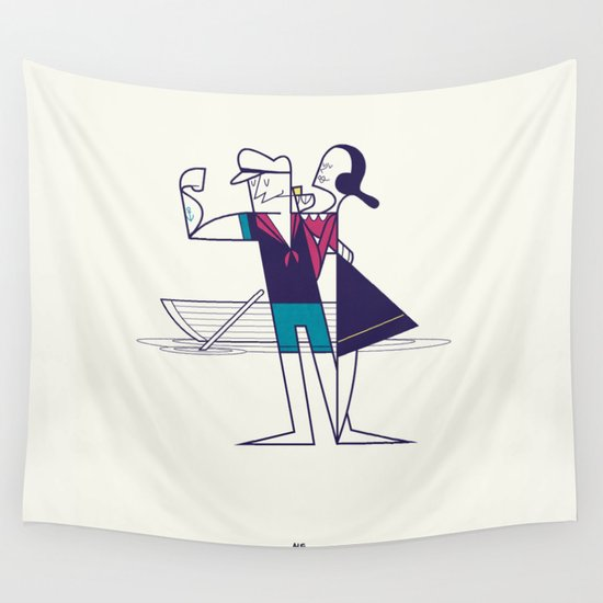 We will sail away Wall Tapestry