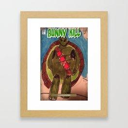 Bunny kill alternate cover with Shell Shock turtle Framed Art Print