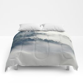 Mountain Fog and Forest Photo Comforters