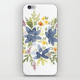 Watercolor Floral Bouquet iPhone Skin