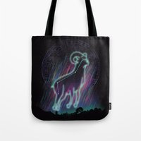 aries Tote Bags featuring Aries by dan elijah g. fajardo