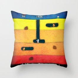 Dig Dug Unicorn Throw Pillow