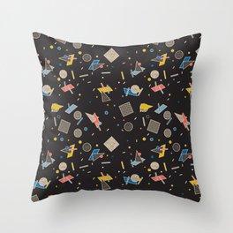Memphis Inspired Pattern 10 Throw Pillow