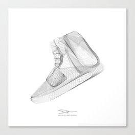 YEEZYS 750 Boost Sneakers Art Canvas Print