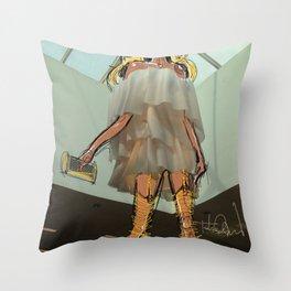 Ruffles & Garters Throw Pillow