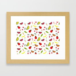 Vegan Goodies Pattern Framed Art Print