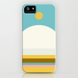 Abstraction_NEW_SUN_HORIZON_LINE_POP_ART_Minimalism_22AD iPhone Case