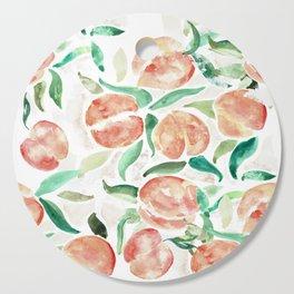 Watercolor Peaches Cutting Board