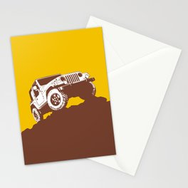 car jeep Stationery Cards