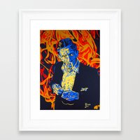 johnny cash Framed Art Prints featuring Johnny Cash by Rich Anderson