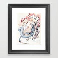 ninja squirrel Framed Art Print