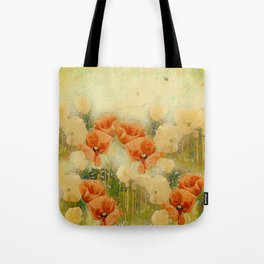 Vintage Poppies Tote Bag