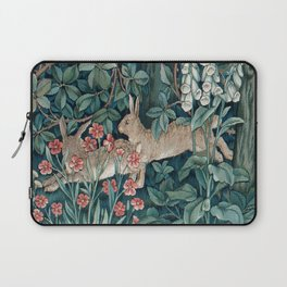 William Morris Forest Rabbits and Foxglove Laptop Sleeve
