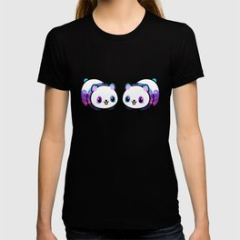Kawaii Galactic Mighty Panda pattern T-shirt