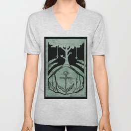 Grounding (Black) Unisex V-Neck