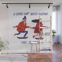 skate couple Wall Mural